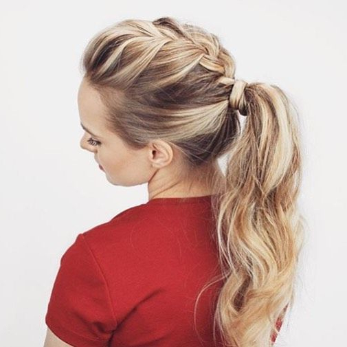 Incorporating A Braid Is A Simple And Stylish Way To Enhance Inside Most Popular Billowing Ponytail Braid Hairstyles (View 18 of 25)