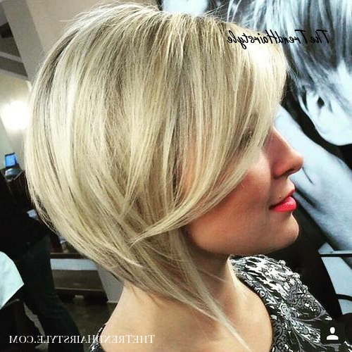 Inverted Bob For Thin Hair – 40 Banging Blonde Bob And For Sassy Angled Blonde Bob Hairstyles (View 13 of 25)