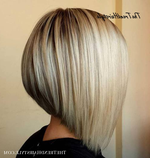 Inverted Bob For Thin Hair – 40 Banging Blonde Bob And Intended For Sassy Angled Blonde Bob Hairstyles (View 7 of 25)