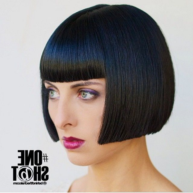 Is There Any Sexier Look Than A Smooth, Cheek Length Bob Pertaining To Sharp And Blunt Bob Hairstyles With Bangs (View 18 of 25)