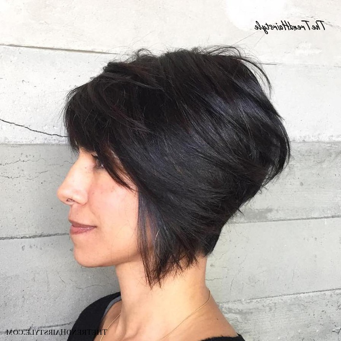 Layered Long Pixie Cut – 60 Gorgeous Long Pixie Hairstyles In Part Pixie Part Bob Hairstyles (View 23 of 25)