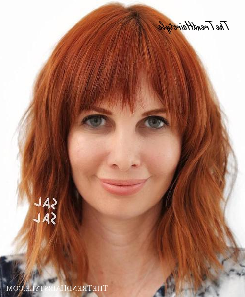 Light Jagged Bangs – 40 Refreshing Variations Of Bangs For Inside Jagged Bob Hairstyles For Round Faces (View 6 of 25)