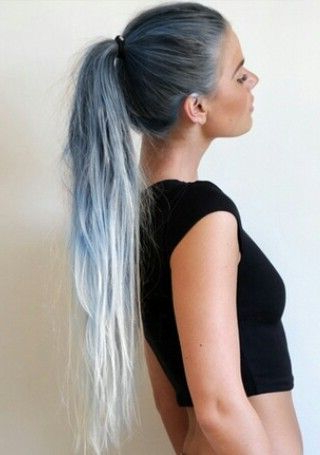 London Topaz Blue To Crisp Polar White Reverse Ombre Long Regarding Most Recent Crisp Pulled Back Braid Hairstyles (View 9 of 25)