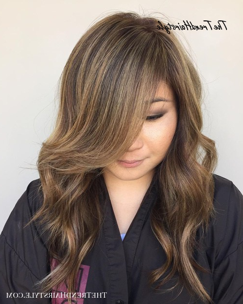Long Layers With Cappuccino Highlights – 20 Jaw Dropping With Short Cappuccino Bob Hairstyles (View 21 of 25)