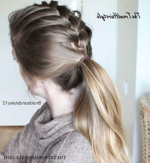 Loosely Braided Style – 30 Fantastic French Braid Ponytails In Latest Grecian Inspired Ponytail Braid Hairstyles (View 12 of 25)