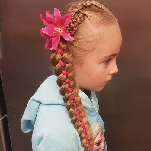 Featured Photo of Loosely Tied Braid Hairstyles With A Ribbon