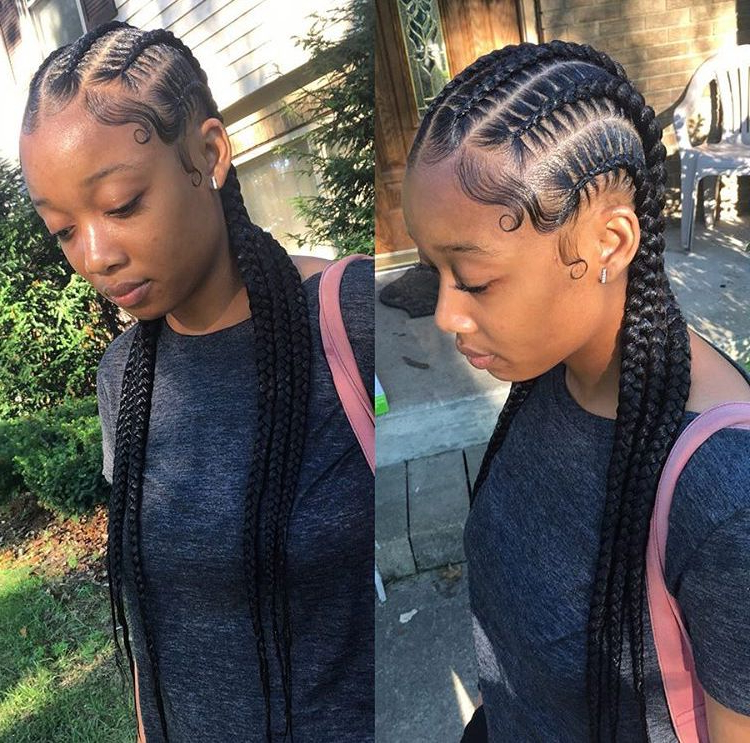 Love These Straight Back Cornrows (View 4 of 25)