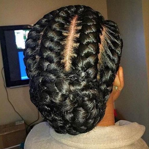 Low Braided Bun | Natural Hair Styles, Hair Styles, Braided Within Current Plaited Low Bun Braid Hairstyles (View 4 of 25)