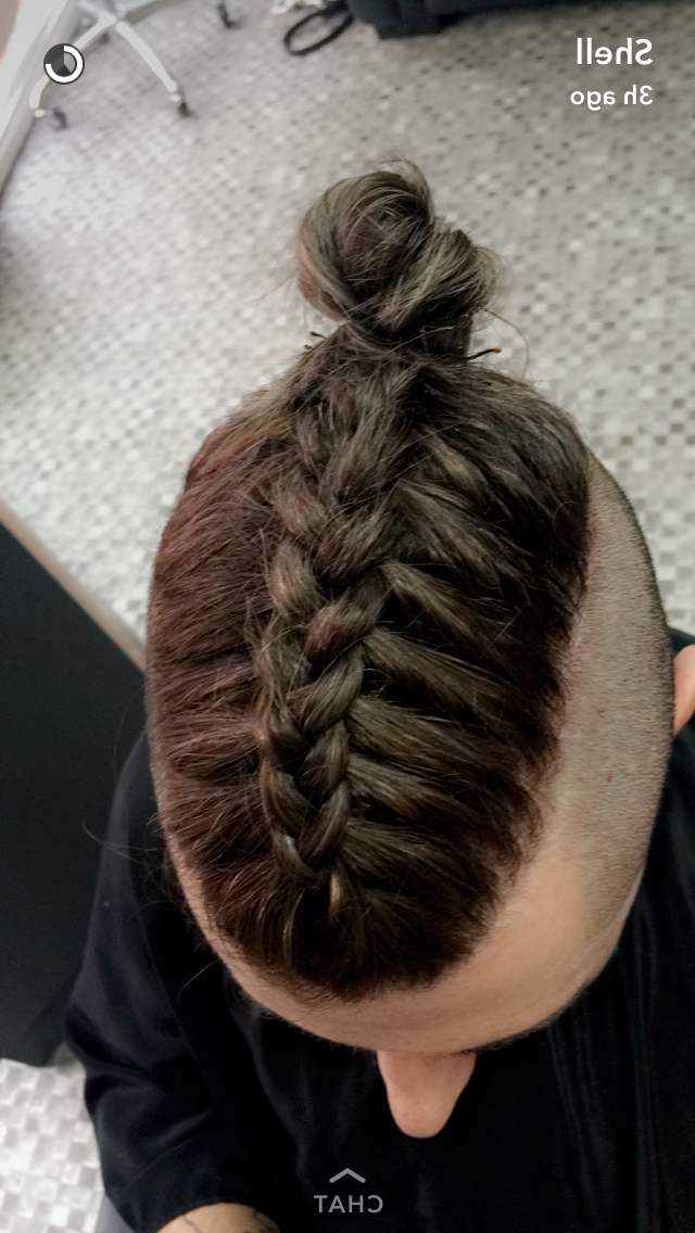 Man Braid Undercut Top Knot Ig: Mike Dugg | Mens Braids Intended For Current Braided Topknot Hairstyles (View 8 of 25)