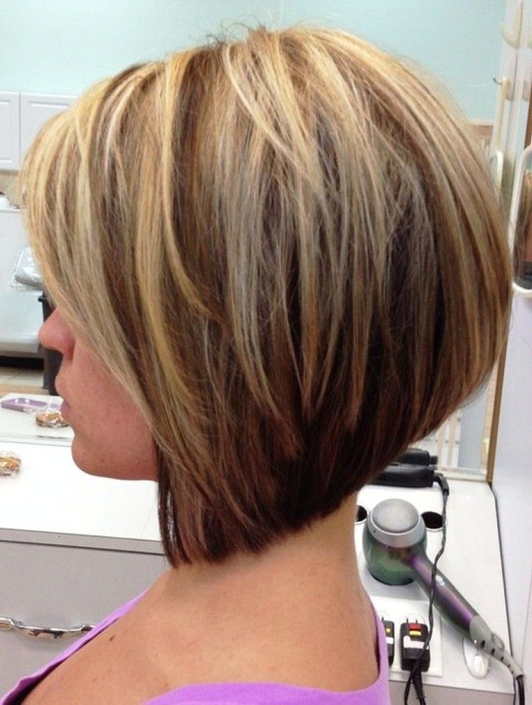 Medium Stacked Bob Hairstyles | Short Stacked Hair, Stacked In Modern Swing Bob Hairstyles With Bangs (View 3 of 25)