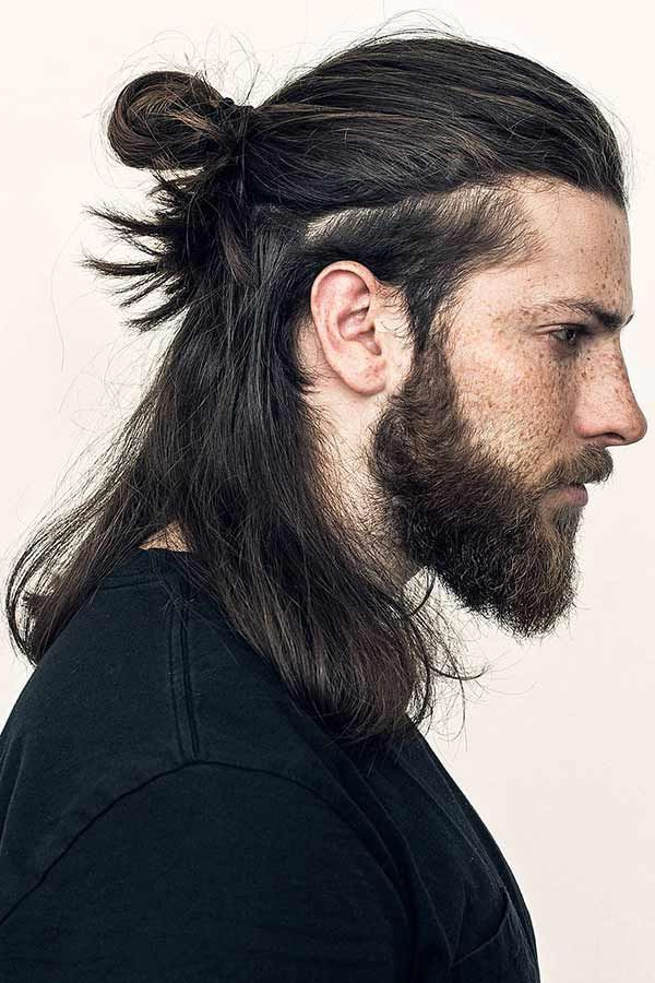 Men's Updos For Long Hair: A Simple Guide To Popular And Throughout Newest Modern Braided Top Knot Hairstyles (View 3 of 25)