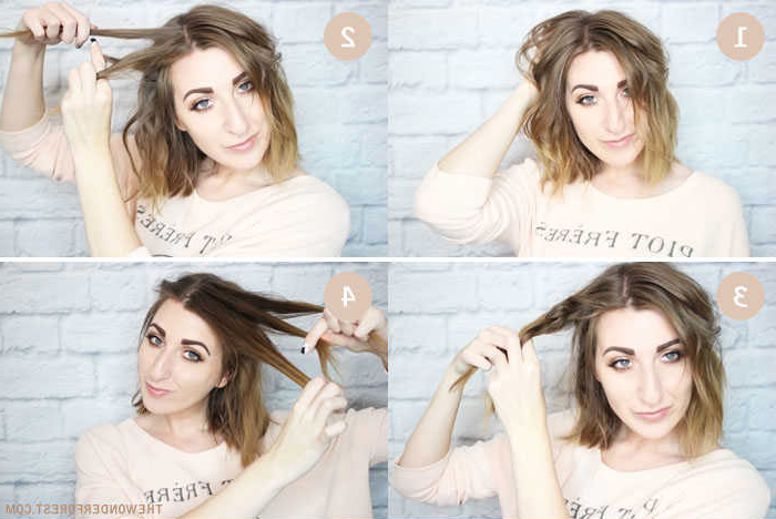 Messy Braided Crown Hairstyle Tutorial Intended For Most Recently Messy Crown Braid Hairstyles (View 21 of 25)