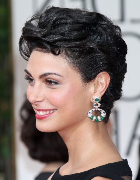 Morena Baccarin Hairstyles – Popular Haircuts Inside Current Morena Pixie Haircuts With Bangs (View 20 of 25)