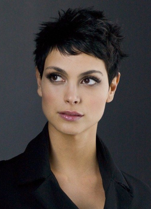 Morena Baccarin Pixie For Curly Hair | Hair | Super Short In Best And Newest Morena Pixie Haircuts With Bangs (View 3 of 25)