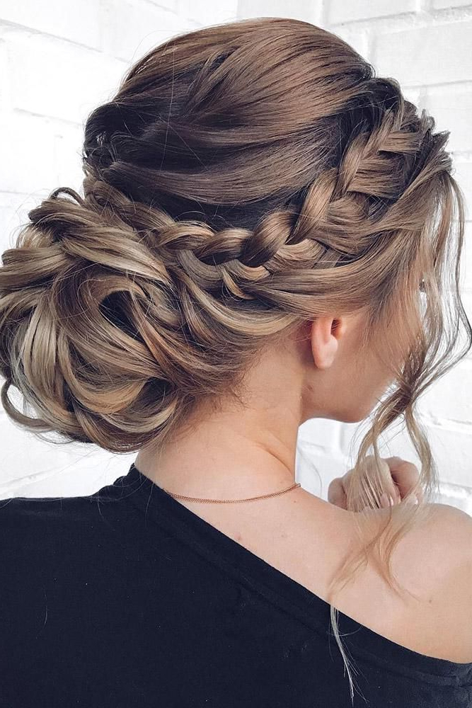 Mother Of The Bride Hairstyles: 63 Elegant Ideas For 2019 In Latest Plaited Low Bun Braid Hairstyles (View 5 of 25)