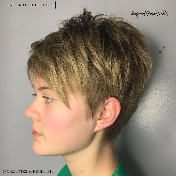 Multiple Messy Layers – 40 Bold And Beautiful Short Spiky Intended For Most Recently Edgy Look Pixie Haircuts With Sass (View 21 of 25)