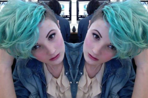 Featured Photo of Aqua Green Undercut Hairstyles