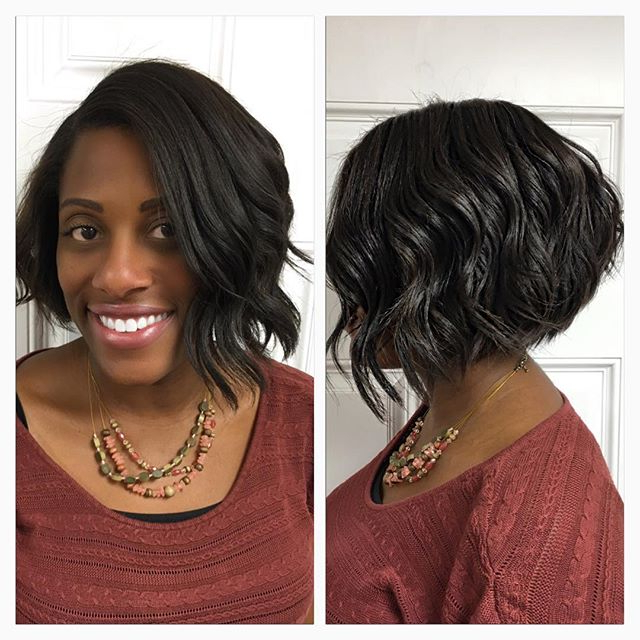 Naturally Curly A-Line Bob Hairstyle For African American with regard to Natural Bob Hairstyles