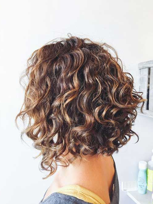 Naturally Curly Hairstyles And Bob Haircuts | Short Permed with regard to Naturally Curly Bob Hairstyles