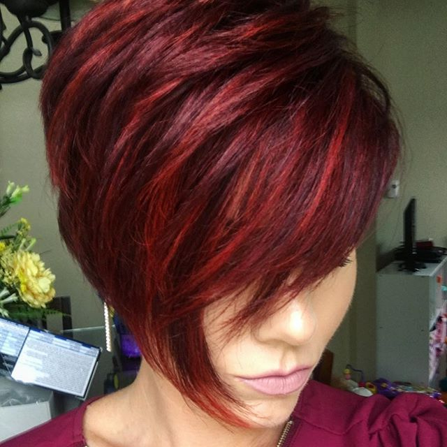 Nothingbutpixies #nothingbutpixies #fiidnt #shorthair in Recent Pageboy Maroon Red Pixie Haircuts