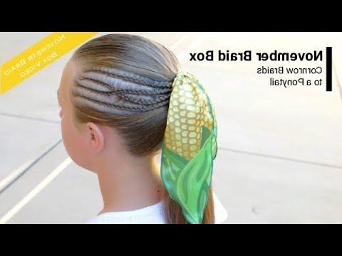 November Braid Box Tutorial: Cornrow Accent Braids To A Ponytail inside Current Cornrow Accent Braids Hairstyles