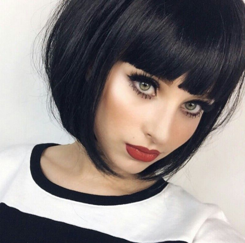 One Haircut And Color I've Always Wanted To Try But Haven't with Short Black Bob Hairstyles With Bangs