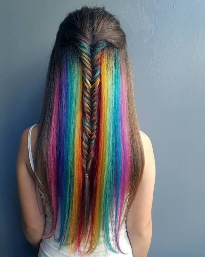 Peekaboo Highlights | Tumblr Inside Most Popular Peek A Boo Braid Hairstyles (View 20 of 25)