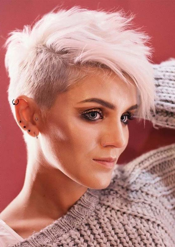 Perfect Blonde Pixie Haircuts For Short Hair In 2019 | Modeshack inside Most Recently Blonde Pixie Haircuts