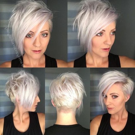 Pin On Beauty inside Current Flipped Up Platinum Blonde Pixie Haircuts