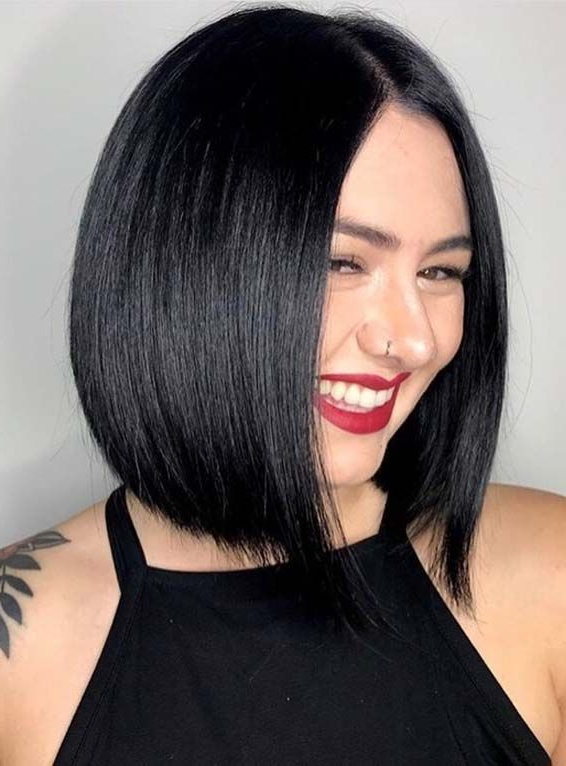 Pin On Bob Hairstyles Throughout Rounded Sleek Bob Hairstyles With Minimal Layers (View 2 of 25)