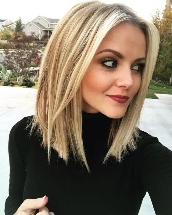 Pin On Bobs with regard to One Length Short Blonde Bob Hairstyles