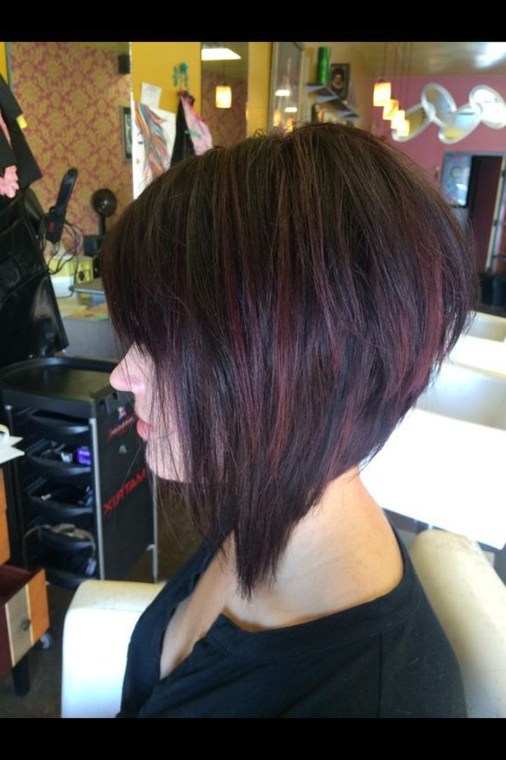 Pin On Christina Borges within Graduated Angled Bob Hairstyles