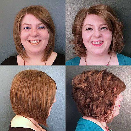 Pin On Curly Hair Throughout Bob Hairstyles For A Chubby Face (View 4 of 25)