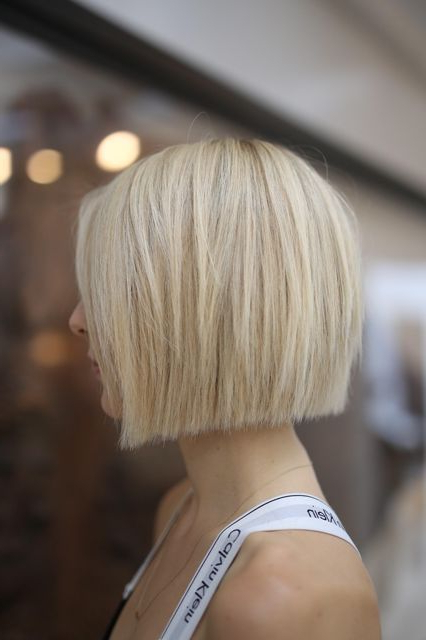 Pin On Fashion And Hair regarding One Length Short Blonde Bob Hairstyles