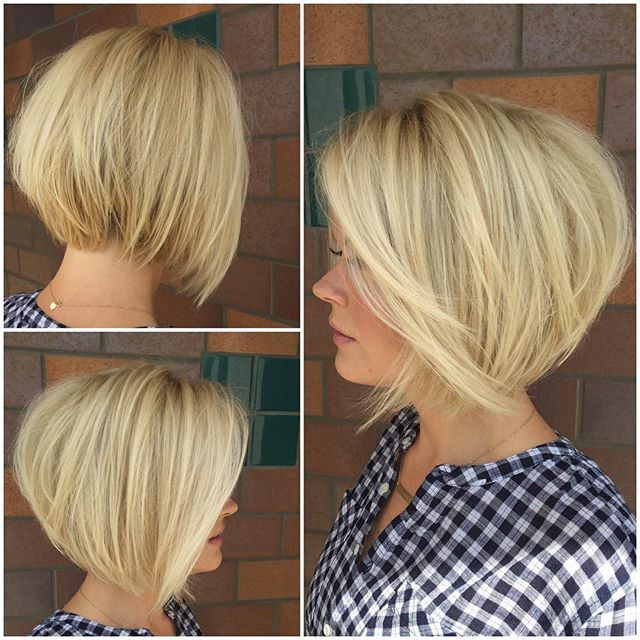 Pin On Female Hairstyles Intended For Textured And Layered Graduated Bob Hairstyles (View 15 of 26)