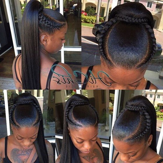 Pin On Flat Twist pertaining to Most Current Billowing Ponytail Braid Hairstyles