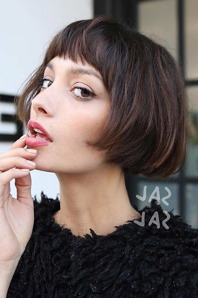 Pin On Hair And Makeup with Vintage Bob Hairstyles With Bangs