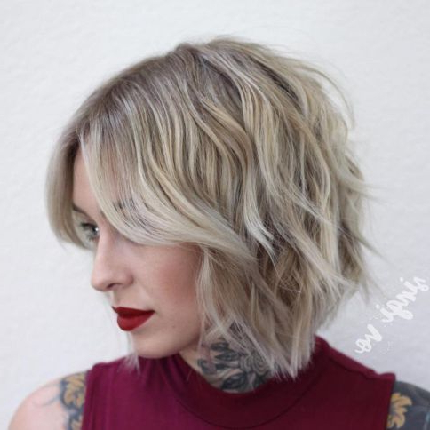 Pin On Hair! :d with regard to Shaggy Bob Hairstyles With Choppy Layers