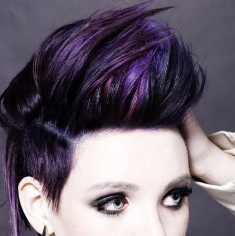Pin On Hair in Most Current Faux-Hawk Fade Haircuts With Purple Highlights