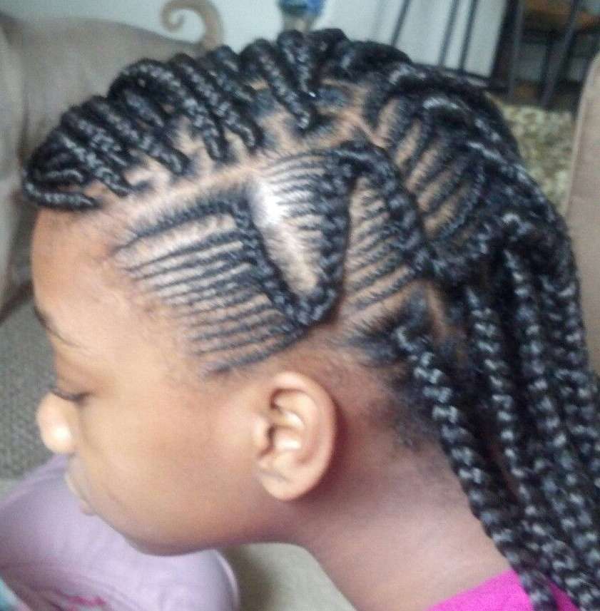 Pin On Hair!!! In Recent Cornrow Accent Braids Hairstyles (View 5 of 25)