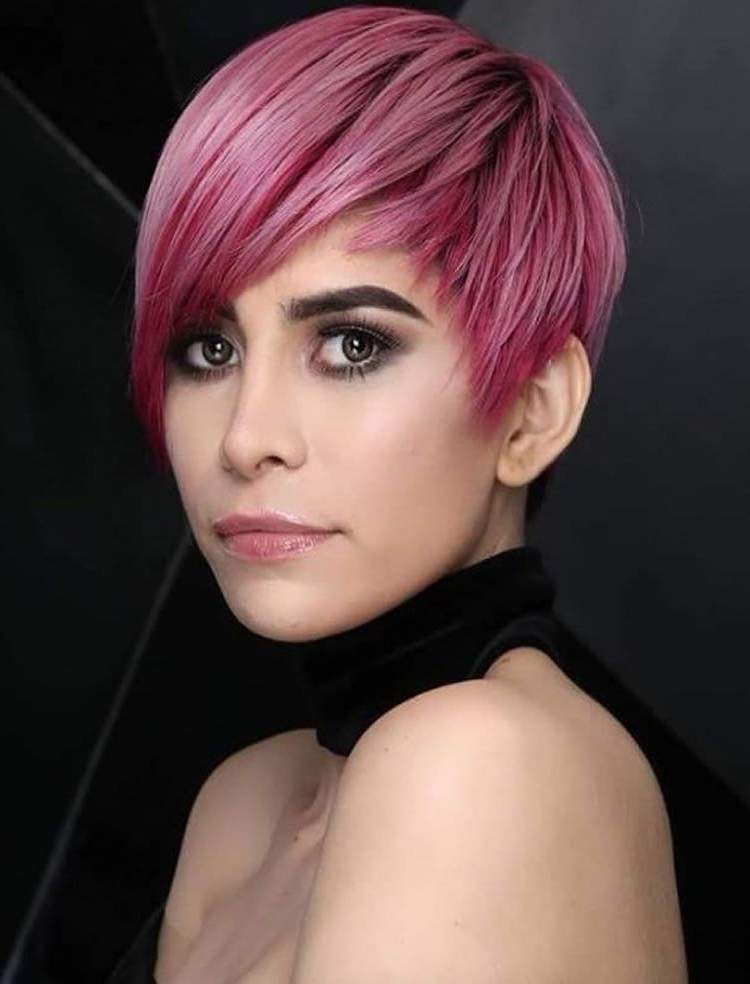 Pin On Hair inside 2018 Pageboy Maroon Red Pixie Haircuts