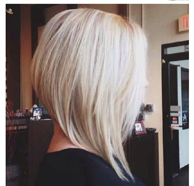 Pin On Hair inside Sassy Angled Blonde Bob Hairstyles