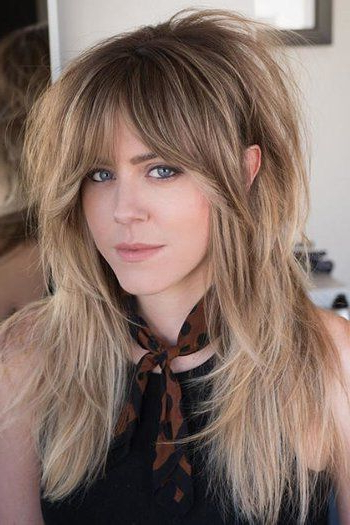 Pin On Hair Styles inside Best and Newest Razor Haircuts With Long Bangs