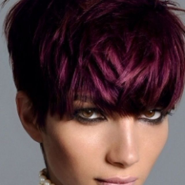 Pin On Hair Styles inside Most Recently Pageboy Maroon Red Pixie Haircuts