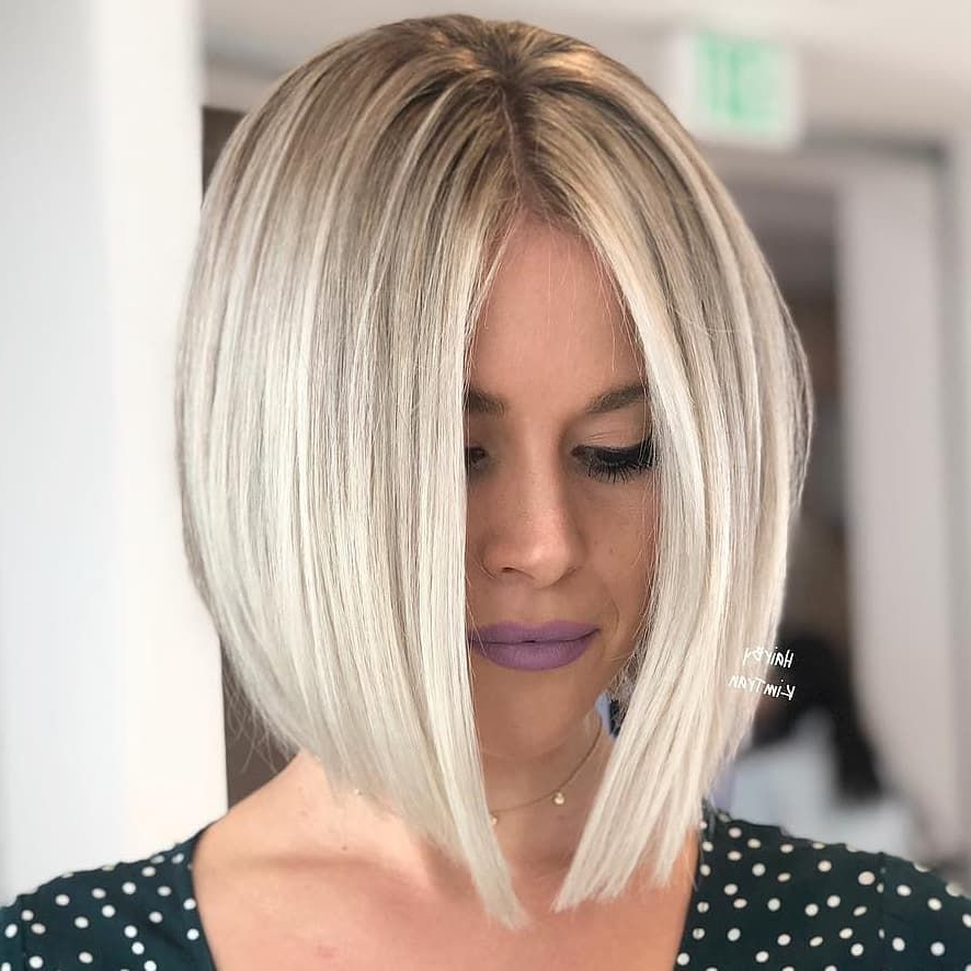 Pin On Hair Styles Inside Sharp And Blunt Bob Hairstyles With Bangs (View 2 of 25)