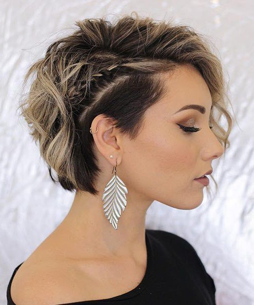 Pin On Hair Styles with regard to Most Up-to-Date Faux Undercut Braid Hairstyles
