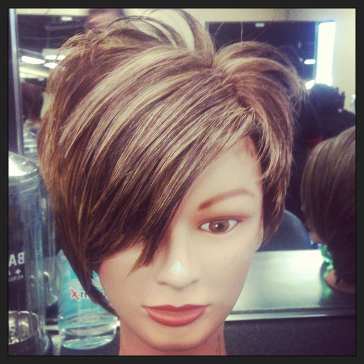 Pin On Hair throughout Most Popular Dark Pixie Haircuts With Blonde Highlights