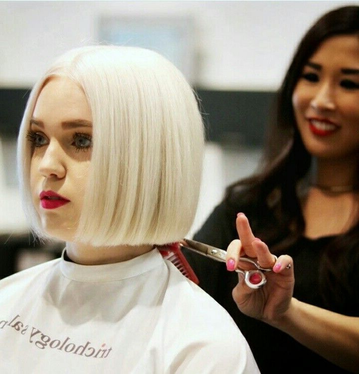 Pin On Hair with regard to One Length Short Blonde Bob Hairstyles