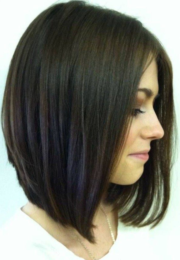 Pin On Haircuts with Rounded Sleek Bob Hairstyles With Minimal Layers