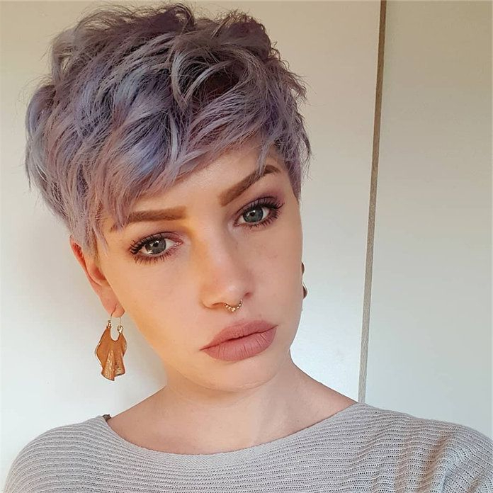 Pin On Haircuts within Recent Edgy Pixie Haircuts